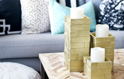 Make Fall-Perfect Wooden Candleholders — Without a Woodshop