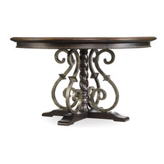 Treviso Round Dining Table with One 18'' Leaf