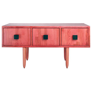 Midcentury TV Stand, Red
