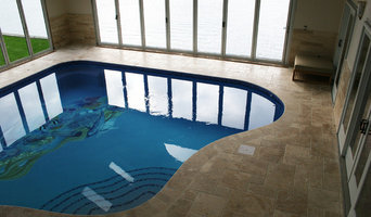 Indoor Pool with custom graphic tile