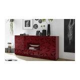 Prisma (red) 2 door 2 drawer sideboard