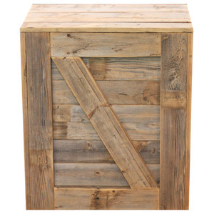 28ba1713a4 Larry 2-Drawer Side Table,Rustic Teak Finish - Rustic - Side Tables ...