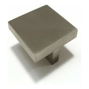 """Richelieu BP84150195 1.7"""" Contemporary Square Cabinet Knob - Brushed Nickel"""