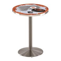 Philadelphia Flyers Pub Table W/Orange Background 36-inchx36-inch