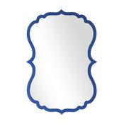 Curvy Cobalt Mirror