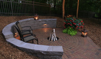 Half-Circle Retaining Wall and Fire Pit