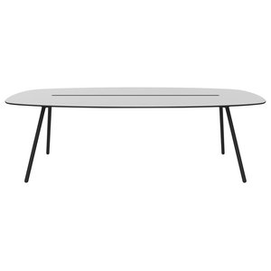 Large A-Lowha Long Board Table, Grey, Black Frame