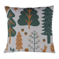 Forest Scatter Cushion, Grey