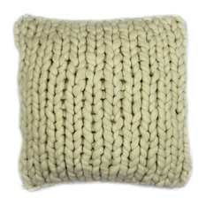 Abuela Wool Feather Cushion, Natural