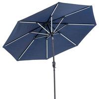 Sun-Ray 9' Round 8-Rib Next Gen Solar Umbrella, Navy