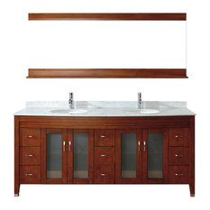 Alba Vanity Set, Cherry and Natural Carrera, 75''