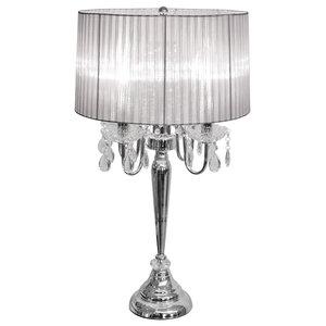 Chrome Four Light Table Lamp