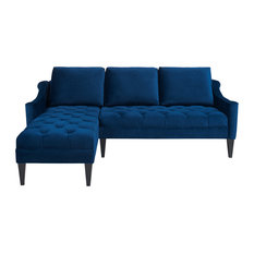 1st Avenue - Amelie Sectional Sofa, Navy Blue - Sectional Sofas