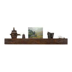 "Appalachian Mantel Shelf Antique Brown, 10 X 72"""