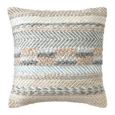 """Sand Dune Pillow, 18""""x18"""", Driftwood"""