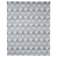 Ailyn Hand-Tufted Geometric Gray Rug, 8'x10'
