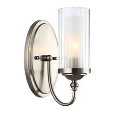 Lexington Satin Nickel 1-Light Wall Sconce Bathroom Fixture, 20-9304