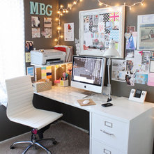 Eclectic Home Office by Jen Ramos Art