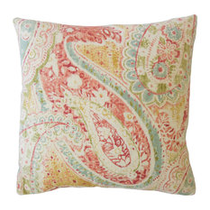 "Basile Paisley Throw Pillow, Persia, 20""x20"""