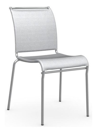 Air Stackable Chair, Satin Steel Frame, Synthetic Fabric Net Seat ...