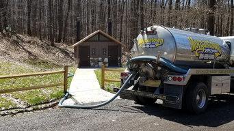 Vault restroom pumping @ WV State Park