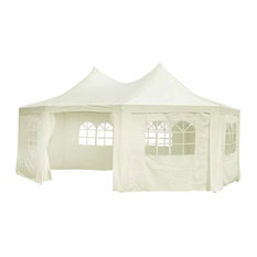 Outdoor Octagonal Party Tent 20'x15'x12', Cream White
