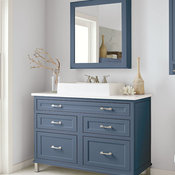 Blue Bathroom Inset Cabinets - Decora Cabinetry