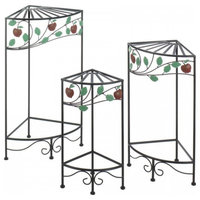 Country Apple Plant Stands,  3-Piece Set