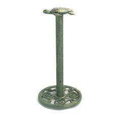 "Antique Bronze Cast Iron Sea Turtle Extra Toilet Paper Stand 13"""