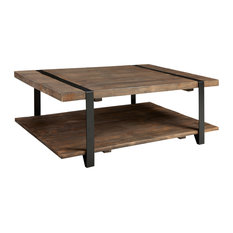 Bolton Furniture Inc Modesto 48 Reclaimed Wood Coffee Table Rustic Natural