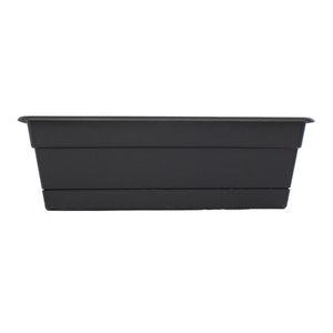 Bloem Living DCBT24-00 Dura Cotta Plant Window Box 24-Inch Black