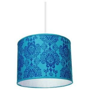 Pachyderme Baroque N'Roll Lampshade, Blue, Small