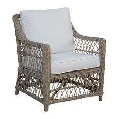 Panama Jack Seaside Lounge Chair With Cushions, Patriot Birch
