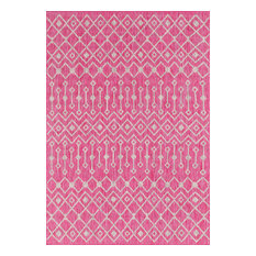 Unique Loom Pink Tribal Trellis Outdoor 5' x 8' Area Rug