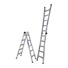 Cosco 2-in-1 Aluminum Step and Extension Ladder with 14' Max Reach