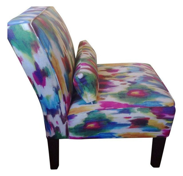 Exceptional Multi Colored Accent Chairs   A Pair
