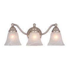 Standford 3-Light Vanity, Brushed Nickel/Alabaster Glass
