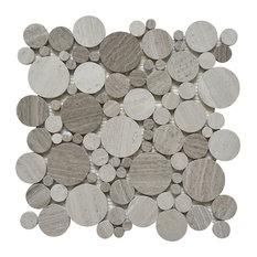 """11""""x11"""" White Oak, Mixed Rounds, Polished, Set of 5"""