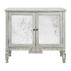 MDF/Poplar/Antique Mirror Cabinet With Warm Gray Glaze Finish 42-inchx36-inch
