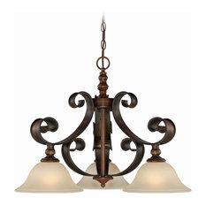 Spanish Chandelier: Craftmade - Craftmade Seville 1-Tier Chandelier, Spanish Bronze -  Chandeliers,Lighting