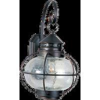 Maxim Portsmouth 1-Light Oil Rubbed Bronze Seedy Glass Wall Lantern