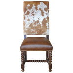 John Proffitt Home - Barley Twist Cowhide Dining Chair, Set of 10 - Product Note: There will be variations in the print as it is natural cow hide.