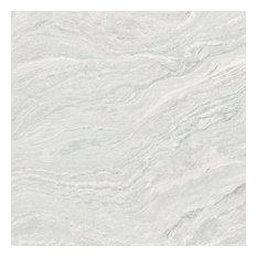 "32""x32"" Amazon Marble Honed Unglazed Porcelain Tile, Set Of 3, Light Gray"