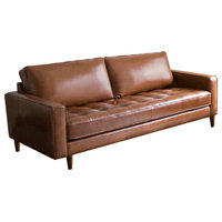 Abbyson Living Natalee Mid-Century Leather Seating, Sofa