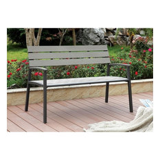 Furniture of America Adonde Transitional Outdoor Bench, Gray