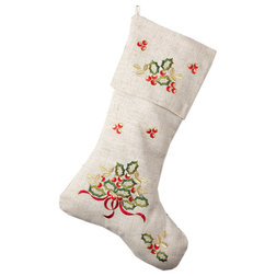 Contemporary Christmas Stockings And Holders by Fennco Styles, Inc.