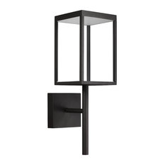 Reveal, Outdoor Rectangular LED Wall Sconce, Black Finish, Clear Glass