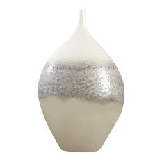 Cream Rises Vase, Wide, Large