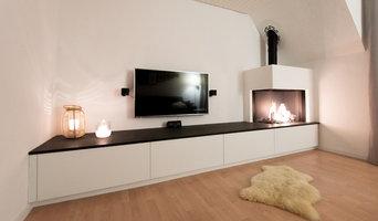 DRU Gaskamin mit TV Möbel