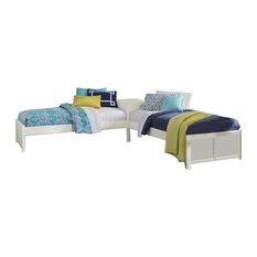 NE Kids Pulse Twin L-Shaped Bed, White
